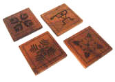 Koa Wood Coasters made in hawaii