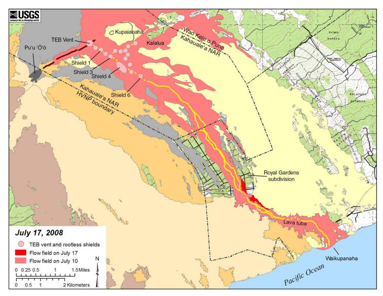 Gallery For Gt Kilauea Eruption Map
